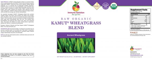 large organic kamut wheatgrass powder