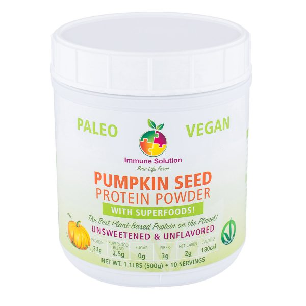 pumpkin seed protein powder superfood immune system supplement