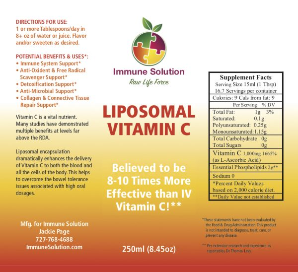 liposomal vitamin c superfood immune system supplement ingrdients